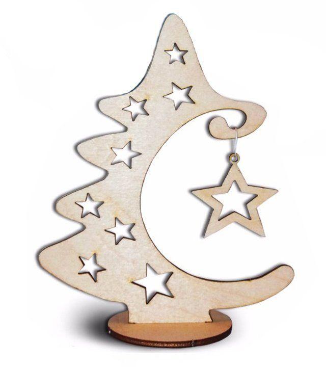 Сборная деревянная модель Ёлочка со звёздочками