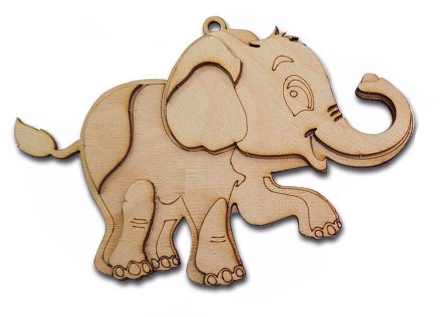 Сборная деревянная модель Слон Мартин
