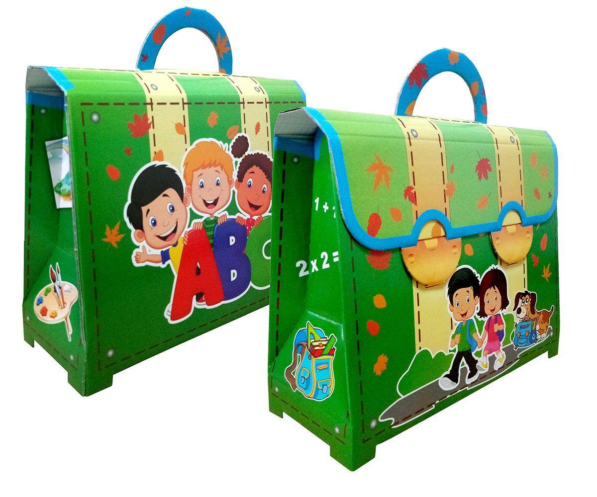 Портфель детский картонный (зеленый)