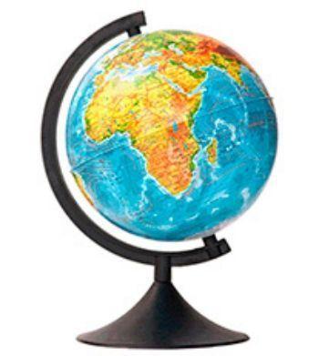 """Глобус Земли """"Классик"""", физический, 210 мм"""