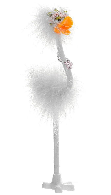 Ручка шариковая с пухом Flamingо, синяяРучки<br>Ручка шариковая в форме фламинго с пухом на подставке.Цвет чернил: синий.Ширина линии письма: 0,7 мм.Расцветка корпуса представлена в ассортименте. Выбор конкретных цветов и моделей не предоставляется.<br><br>Год: 2017<br>Высота: 250<br>Ширина: 10<br>Толщина: 10