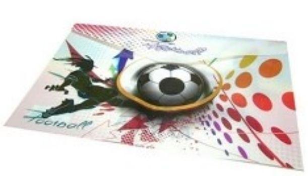 Папка-конверт с кнопкой Футбол