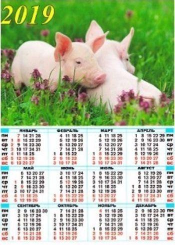 Календарь настенный листовой Символ года 1 2019