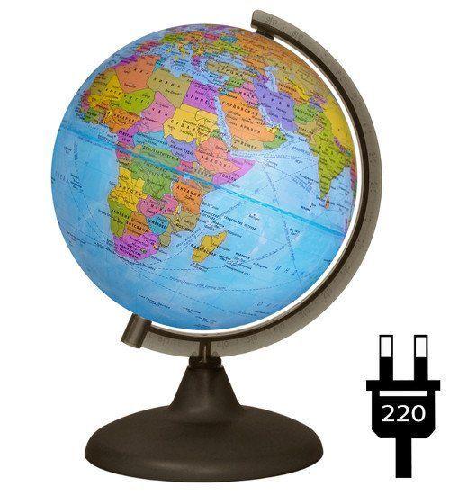 Купить со скидкой Глобус политический, с подсветкой, 210 мм