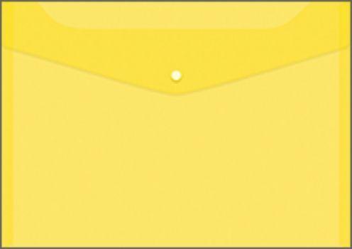 Папка-конверт на кнопке, желтая