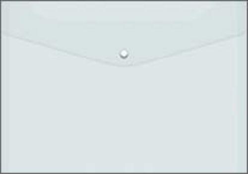 Папка-конверт на кнопке, прозрачная