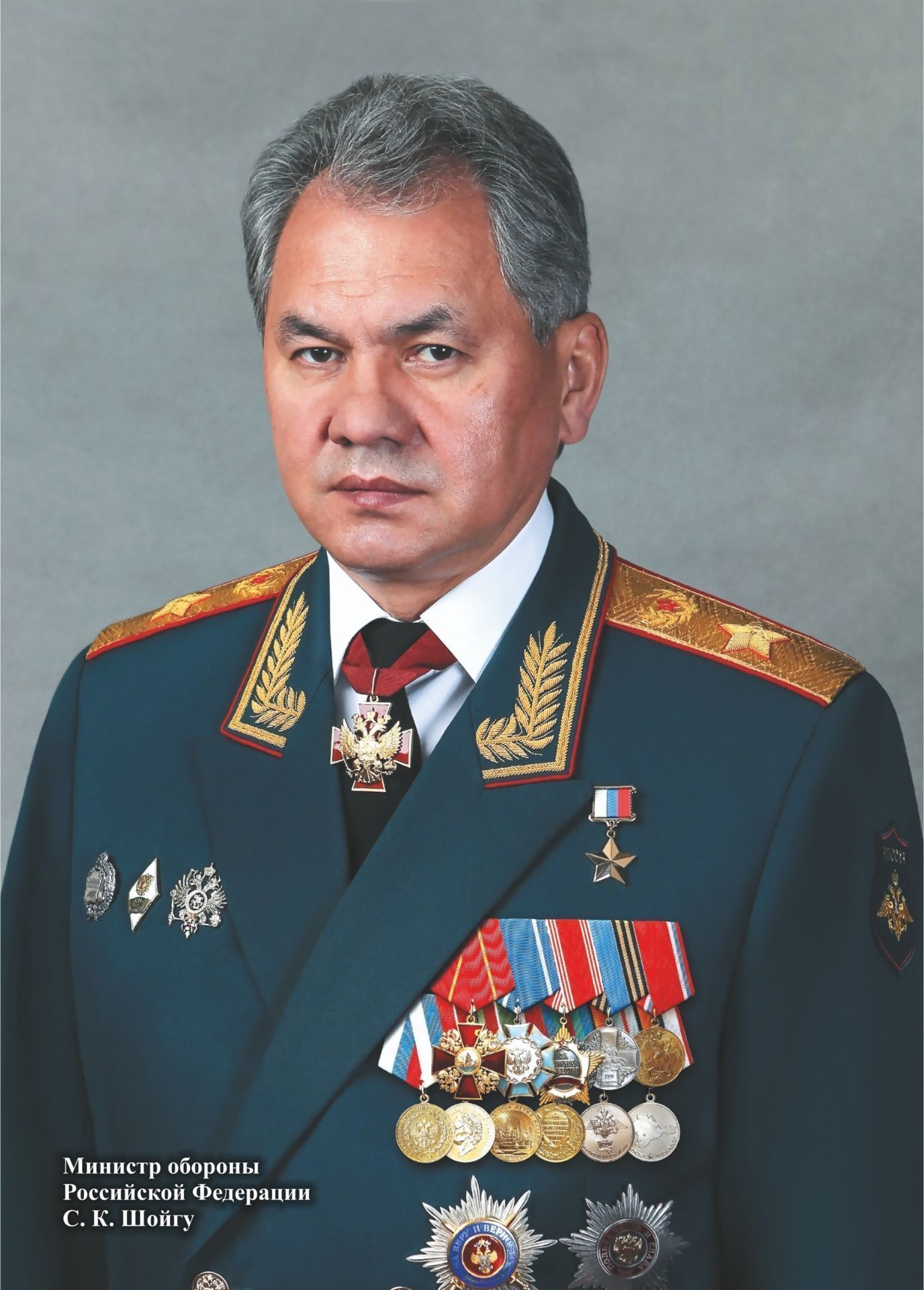 Портрет министра обороны РФ С. К. Шойгу