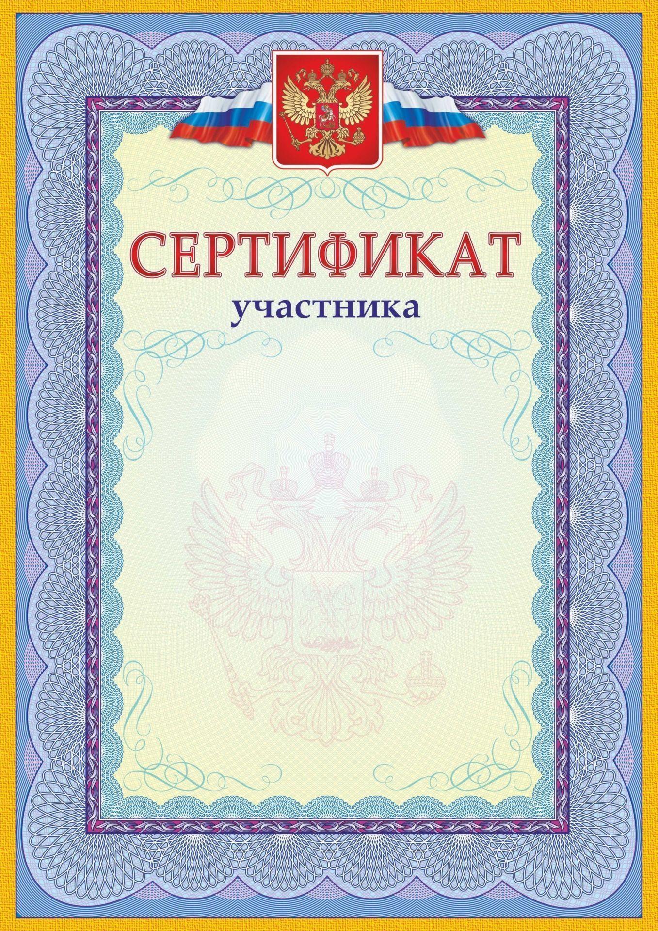 Сертификат участника картинка