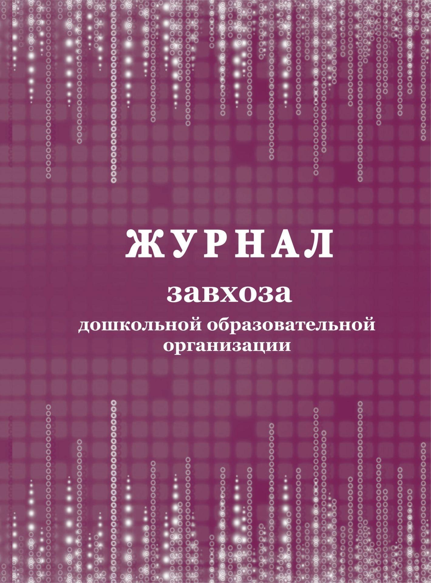 Журнал завхоза дошкольной образовательной организации