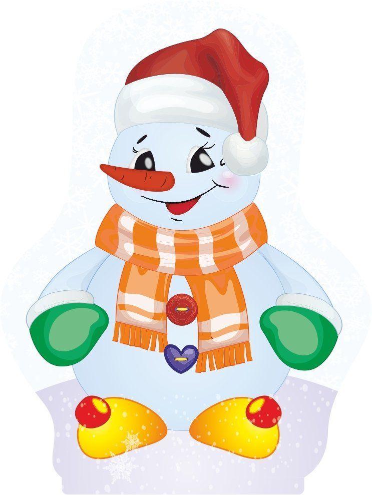 """Фигура на подставке """"Весёлый снеговик"""""""