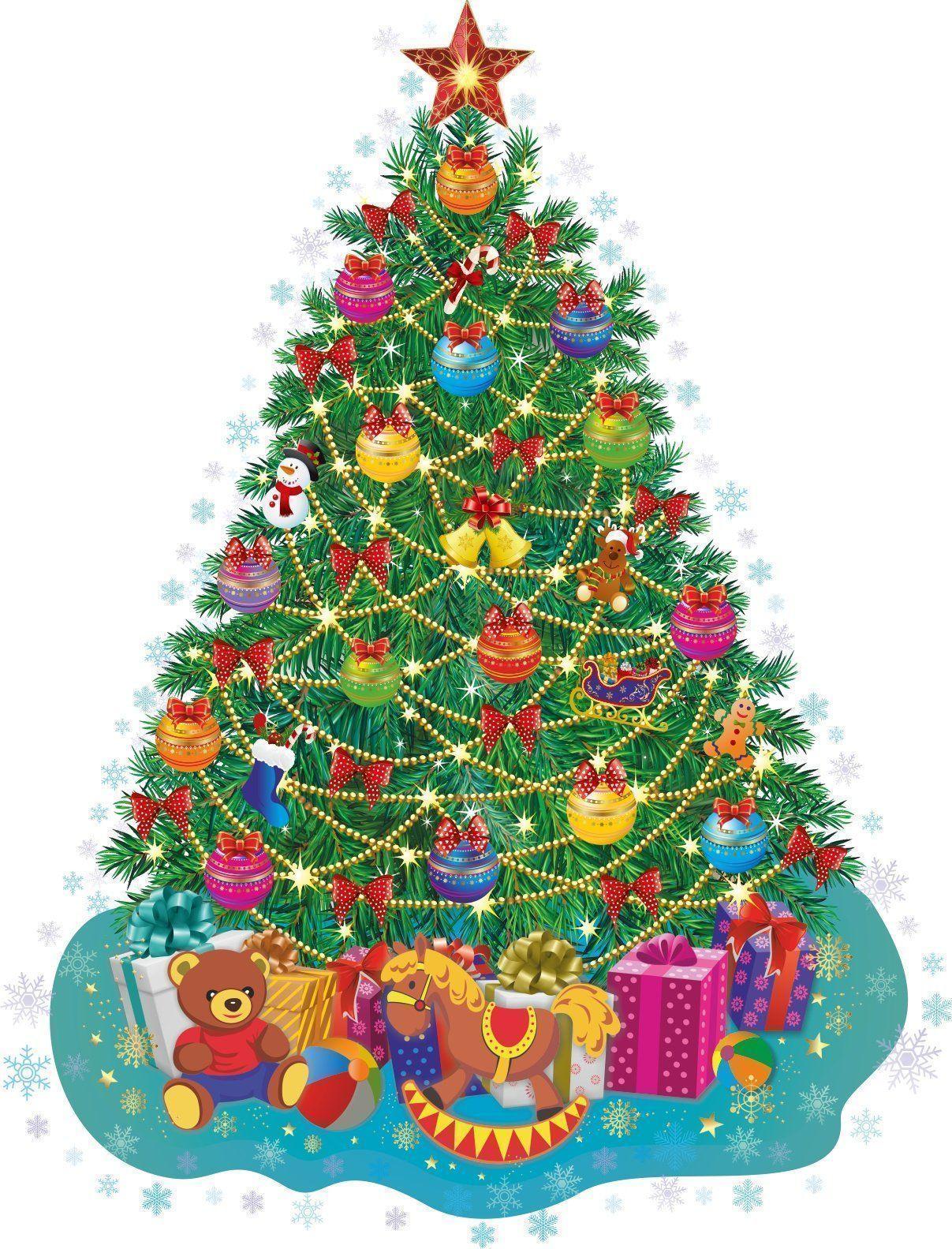 Новогодняя открытка (ёлочка): 104х268 мм