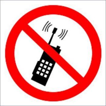 Наклейка Запрещено пользоваться мобильным телефономТаблички на дверь и наклейки для маркировки мебели<br>.<br><br>Год: 2018<br>Высота: 95<br>Ширина: 95<br>Толщина: 1