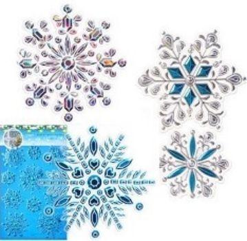 """Новогодние интерьерные наклейки """"Снежинки"""", микс"""