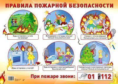 Плакат Правила пожарной безопасностиОформительские плакаты<br>Демонстрационный плакат.Формат А2.Материал: картон.<br><br>Год: 2018<br>Высота: 490<br>Ширина: 690<br>Толщина: 1