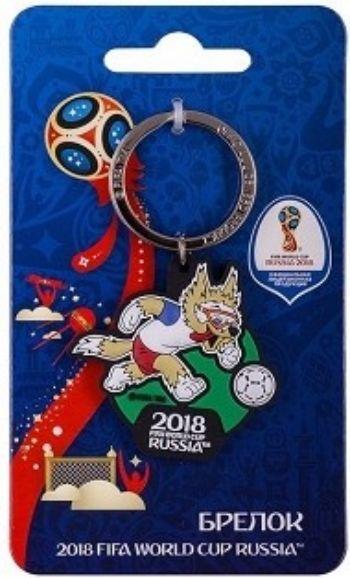 Брелок FIFA 2018. Забивака. Вперед!Аксессуары и сувениры<br>Материал: металл, ПВХ.©FIFA/ФИФА, логотипы официальной лицензионной продукции FIFA, а также эмблемы, талисманы, плакаты и кубки Чемпионата мира по футболу FIFA™ являются объектами авторского права и/или товарными знаками FIFA.<br><br>Год: 2018<br>Высота: 130<br>Ширина: 70<br>Толщина: 4