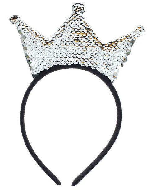 """Ободок карнавальный """"Корона"""", с пайетками, серебро"""