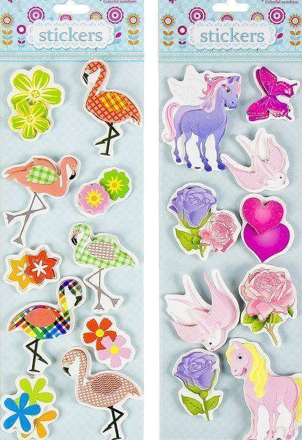 "Наклейка ""Единороги. Фламинго"", с блёстками"