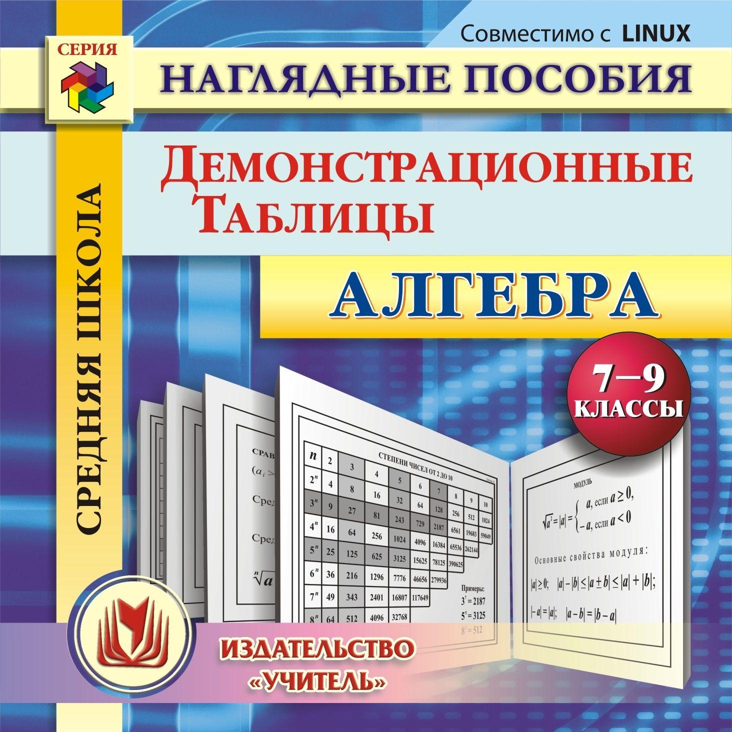 Алгебра. 7-9 классы. Демонстрационные таблицы. Компакт-диск для компьютера