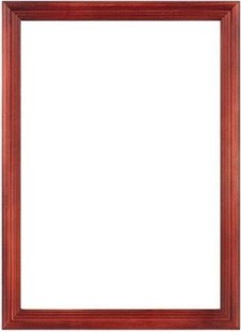 Фоторамка со стеклом (21х30 см), красное дерево