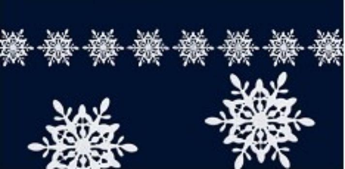Каскад из 8 поролоновых снежинок