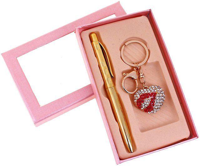 """Купить со скидкой Набор подарочный 2 в 1: ручка, брелок """"Поцелуй"""""""
