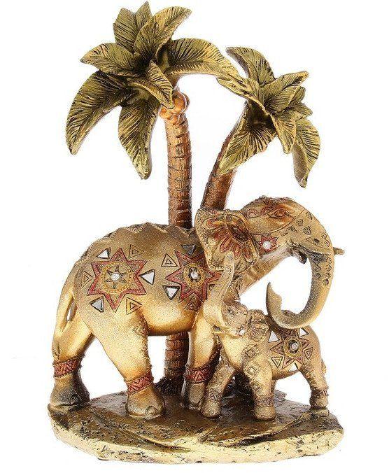 Сувенир Слон со слонёнком под пальмой. Мозаика. Геометрия