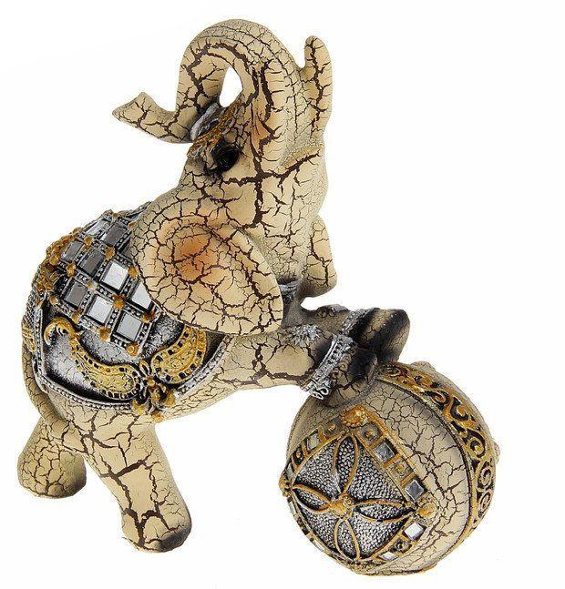 Сувенир Слон в зеркальной попоне на шаре