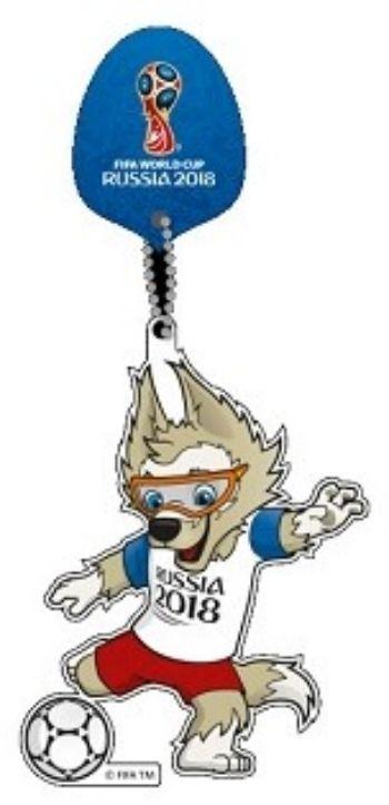 Сувенир на присоскеБрелоки, подвески, зеркала<br>Материал: дерево.©FIFA/ФИФА, логотипы официальной лицензионной продукции FIFA, а также эмблемы, талисманы, плакаты и кубки Чемпионата мира по футболу FIFA™ являются объектами авторского права и/или товарными знаками FIFA.<br><br>Год: 2018<br>Высота: 150<br>Ширина: 60<br>Толщина: 7