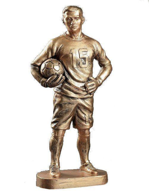 """Статуэтка """"Футболист вратарь"""", бронзовый, 40 см"""