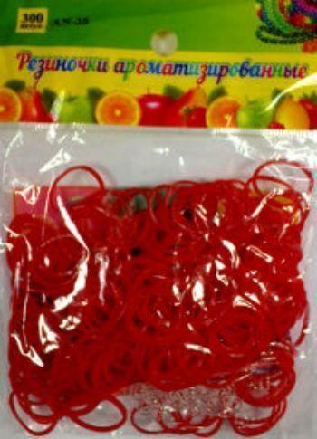 Резиночки для плетения браслетов, красные, ароматизированные, 300 шт.Украшения своими руками<br>Красочный набор для плетения браслетов из ароматизированных разноцветных резиночек порадует каждого ребенка, ведь с помощью компактного набора можно создать оригинальное украшение или приятный подарок для себя и близких.В наборе: 300 резинок, крючок, клип...<br><br>Год: 2015