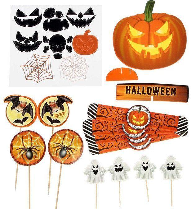 Набор для проведения Хеллоуина, 22 предмета