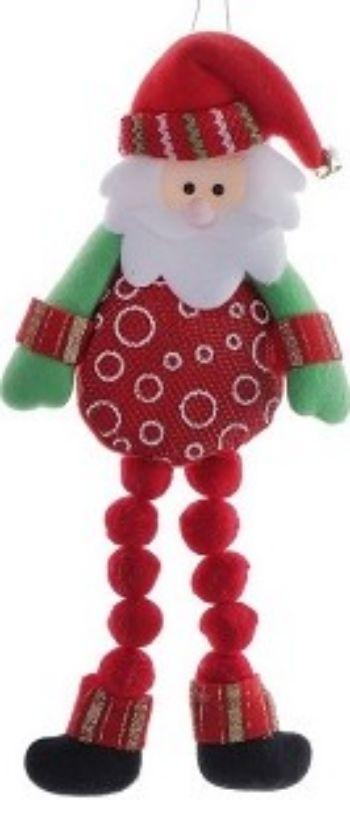 Игрушка мягкая подвесная Дед МорозГирлянды, мишура, дождик<br>Подвесная мягкая игрушка на елку - оригинальное украшение для новогоднего декора.Материал: текстиль.<br><br>Год: 2016<br>Высота: 260<br>Ширина: 130<br>Толщина: 20