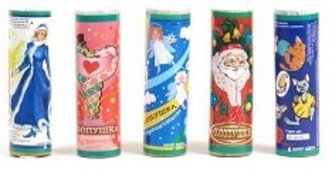Хлопушка новогодняя с серпантином, 2016  - купить со скидкой