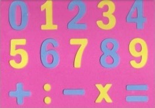 Мозайка Мягкие цифры