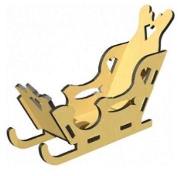 Сборная деревянная модель Сани
