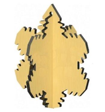 Сборная деревянная модель Снежинка