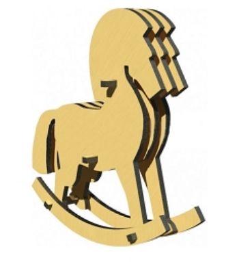 Сборная деревянная модель Лошадь