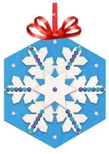Набор для создания игрушки из фетра Снежинка