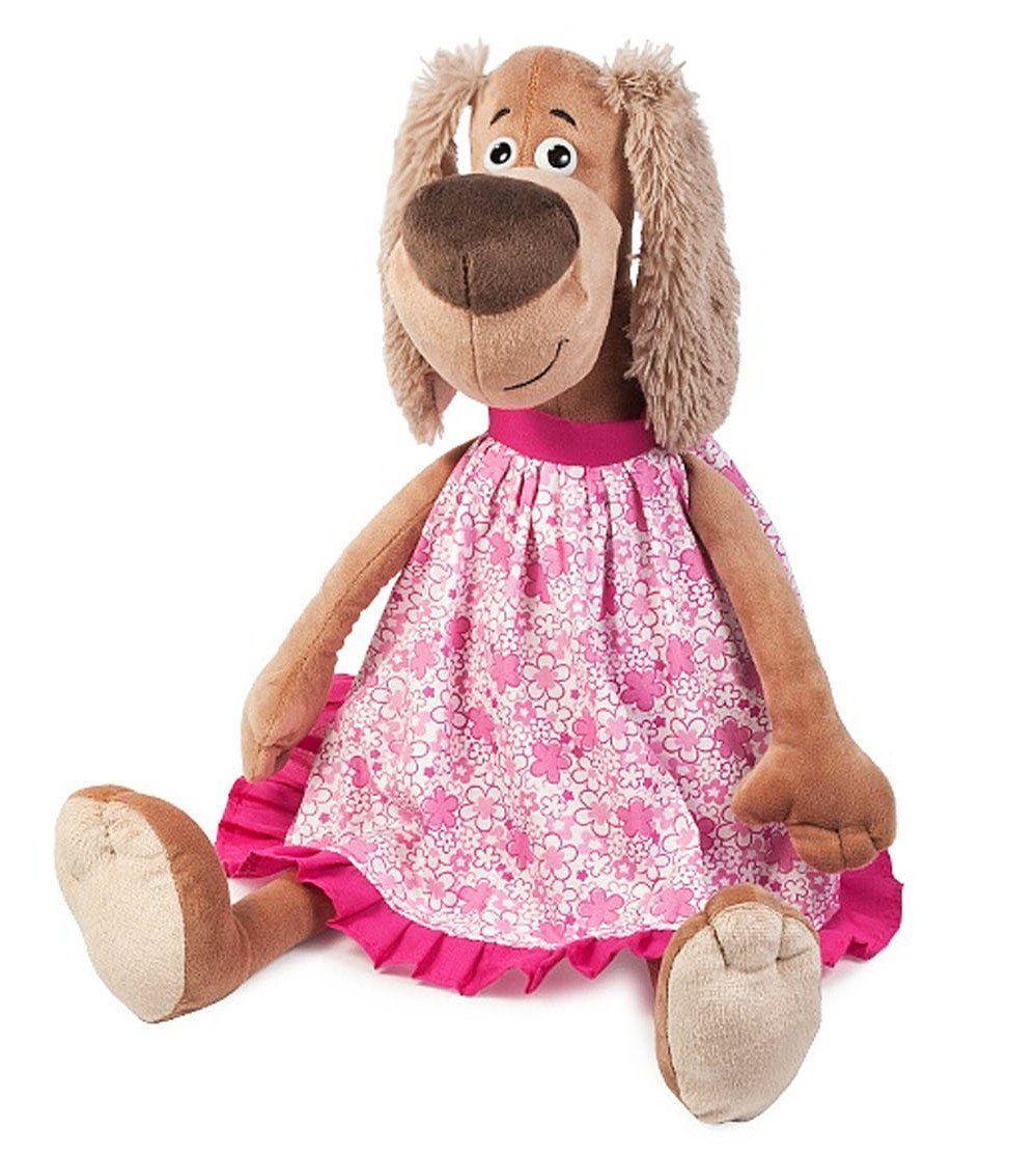 Игрушка мягконабивная Собачка Зиночка в платье, 20 смМягкие игрушки<br>Мягкая игрушка Собачка Зиночка одета в красивое летнее платье. Игрушка сшита из высококачественных искусственного меха, наполнителя и текстиля с использованием пластиковой фурнитуры. У собачки добрые глазки и большой мягкий носик. У нее мохнатые ушки и ...<br><br>Год: 2017<br>Высота: 200<br>Ширина: 90<br>Толщина: 90