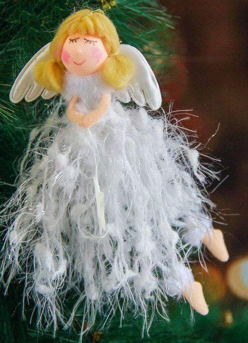 Подвеска мягкая Девочка в белом пушистом платьеГирлянды, мишура, дождик<br>Материал: текстиль.<br><br>Год: 2017<br>Высота: 170<br>Ширина: 80<br>Толщина: 12