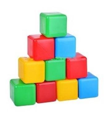 Кубики цветные, 10 шт.