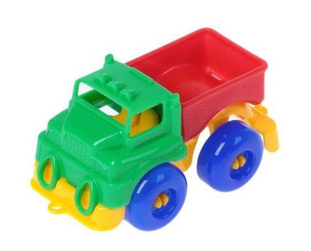 Грузовик Малютка, миксИгры и игрушки<br>С помощью игрушечных машинок малыши осваивают простые сюжетные действия: катать машинку, перевозить груз. Дети постарше используют транспортные игрушки для придумывания более сложных сюжетно-ролевых игр.Материал: пластмасса.Машинки представлены в ассортим...<br><br>Год: 2018<br>Высота: 40<br>Ширина: 90<br>Толщина: 40