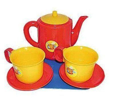 Посуда для кукол Набор чашек с чайником, 8 предметов