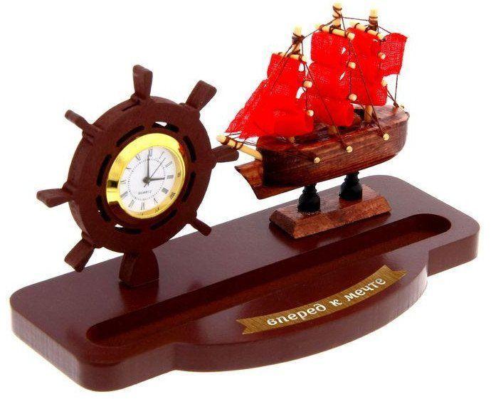 """Набор подарочный """"Вперед к мечте"""". Корабль, часы"""