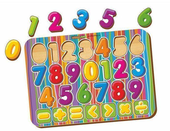 Рамка-вкладыш Изучаем цифры и знаки, окрашенная