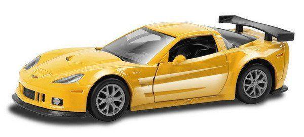 """Коллекционная игровая модель """"Chevrolet Corvette C6.R Shiny Metallic Series"""", микс"""