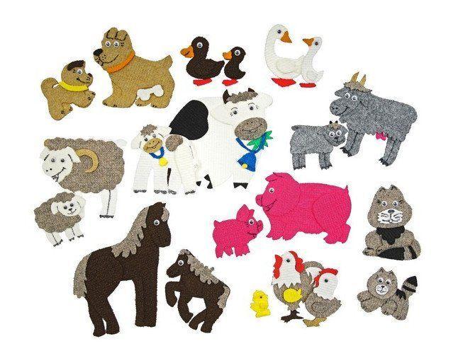 Домашние животные. Веселые липучки. Развивающая игра из ковролина