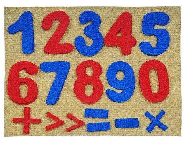 Цифры. Веселые липучки. Развивающая игра из ковролина
