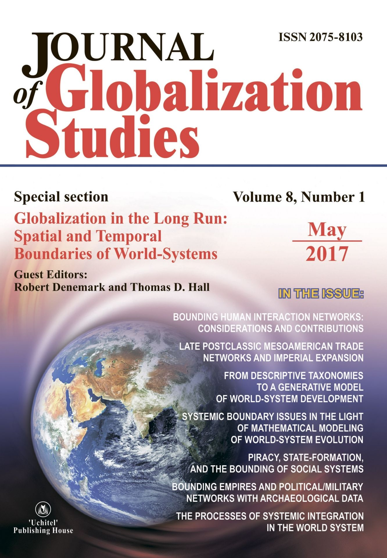Journal of Globalization Studies Volume 8, Number 1, 2017 г. Журнал глобализационных исследований Международный журнал на английском языке