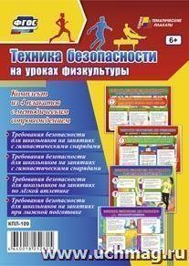 """Комплект плакатов """"Техника безопасности на уроках физкультуры"""": 4 плаката с методическим сопровождением"""